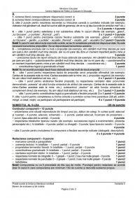 Baremul de CORECTARE pentru subiectele la Limba Română de la Evaluarea Națională