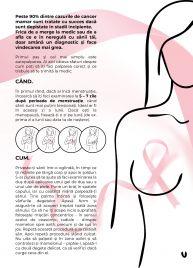 LECȚII pentru autodiagnosticarea cancerului de sân, în Capitală