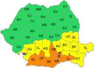 UPDATE. Cod portocaliu de caniculă în opt judeţe din sudul şi vestul ţării
