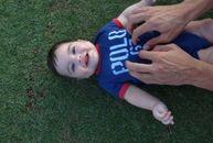 Gerard Pique, noi fotografii cu fiul său, Milan