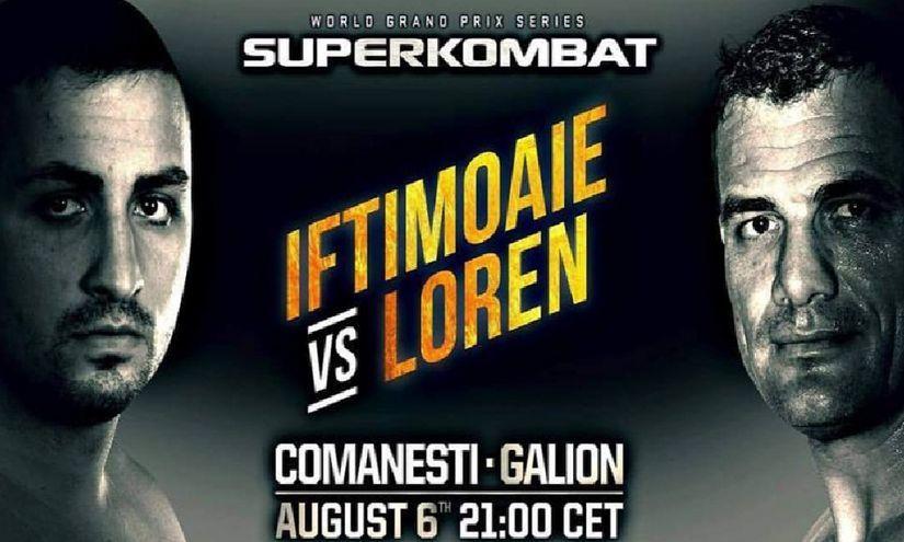 GALA SUPERKOMBAT DE LA COMĂNEŞTI. Iftimoaie luptă în meciul de retragere împotriva campionului Jorge Loren