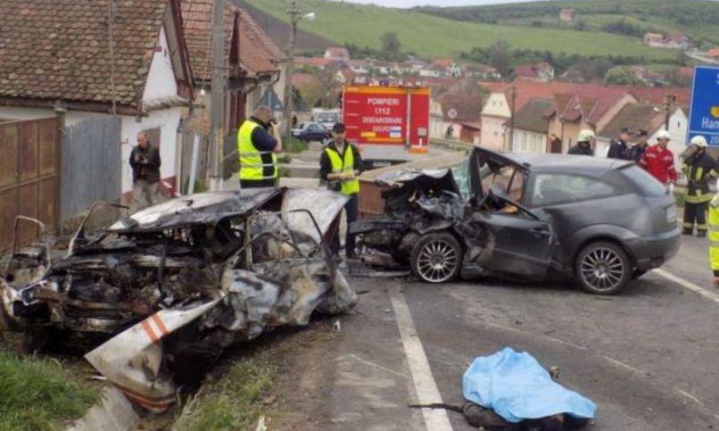Accident cu patru morți pe DN14