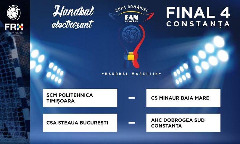 Tot ce trebuie să știi despre turneul FINAL-FOUR al Cupei României la handbal masculin din acest week-end de la Constanța