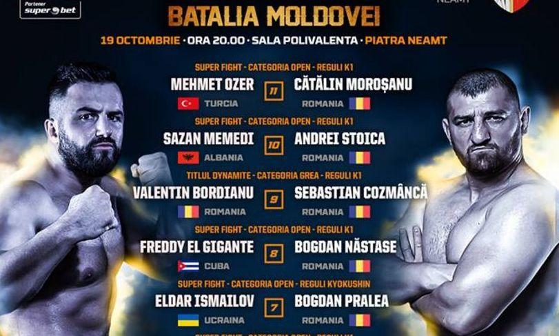Cătălin Moroșanu e mare FAVORIT în lupta cu turcul Mehmet Ozer la Dynamite Fighting Show - Bătălia Moldovei
