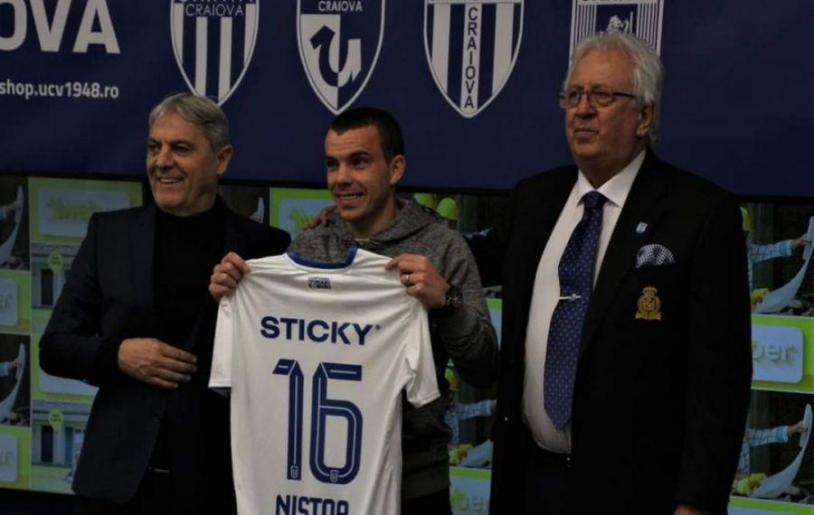 """Dan Nistor și-a pus deja în cap suporterii olteni: """"Îi voi iubi toată viața pe fanii lui Dinamo"""""""