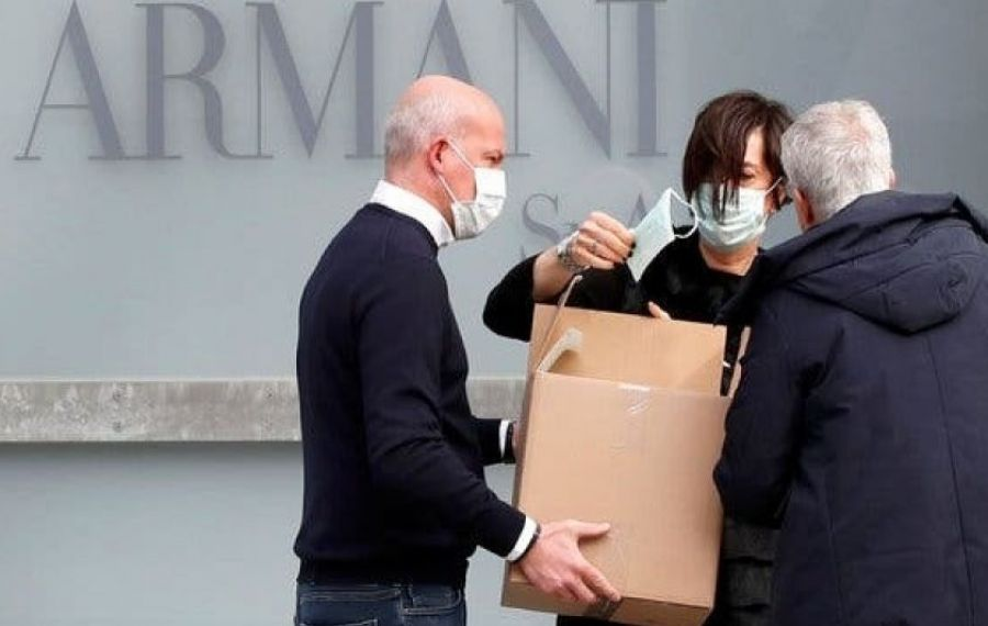 Giorgio Armani A DONAT 1.250.000 de euro spitalelor din Italia
