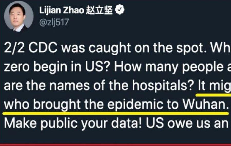 """CHINA: """" Armata americană ar fi putut fi cea care a adus epidemia la Wuhan"""""""