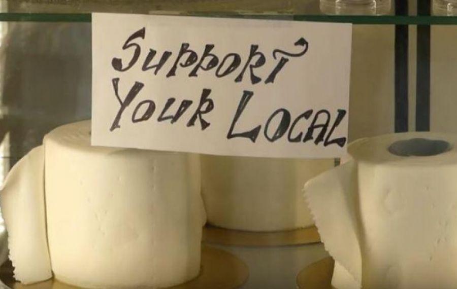 Afacere INEDITĂ în Helsinki: O brutărie produce tort în formă de hârtie igienică