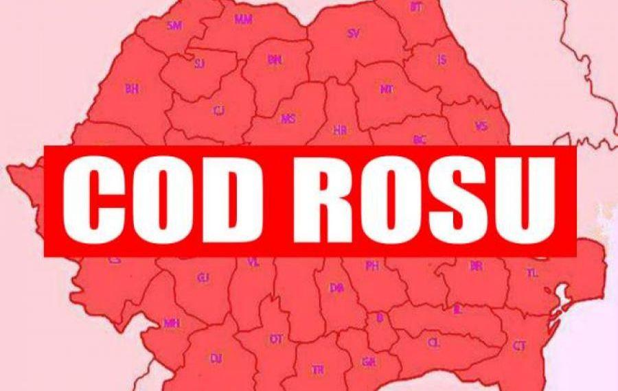 ANM: Cod roșu de ploi torențiale în Bistrița-Năsăud