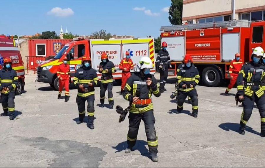 IMAGINILE ZILEI: Pompierii de la Timișoara se antrenează în pași de DANS