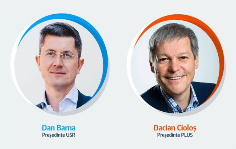 Fuziunea USR-PLUS, votată de peste 84% dintre membrii forurilor de conducere celor două formaţiuni! Dan Barna şi Dacian Cioloş, copreşedinţi