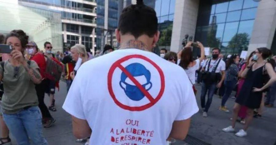 Manifestații la Bruxelles împotriva restricțiilor anti coronavirus