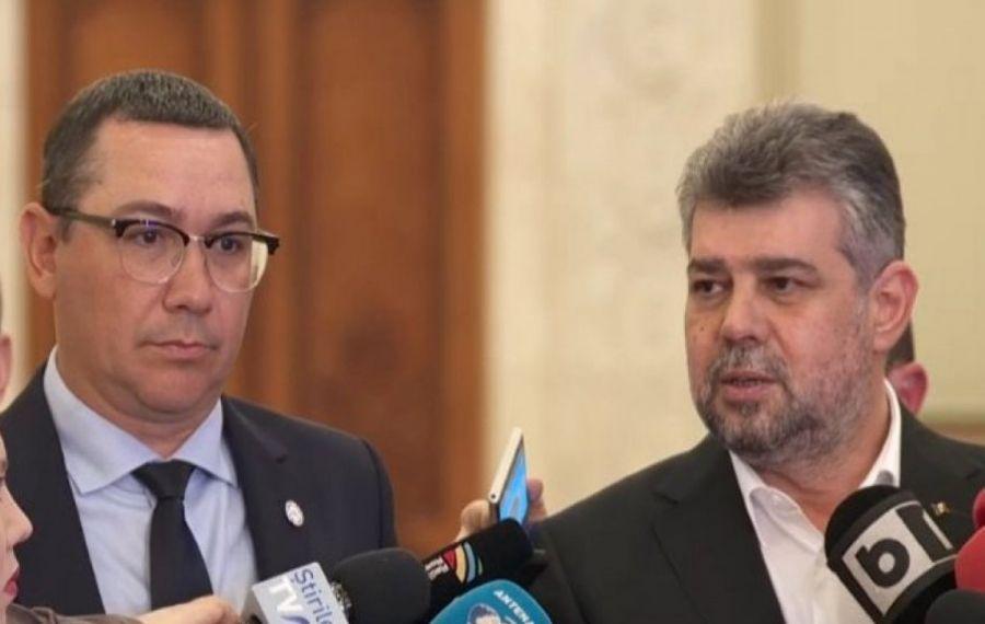 Contre AMUZANTE între Victor Ponta și Marcel Ciolacu după alegerile locale