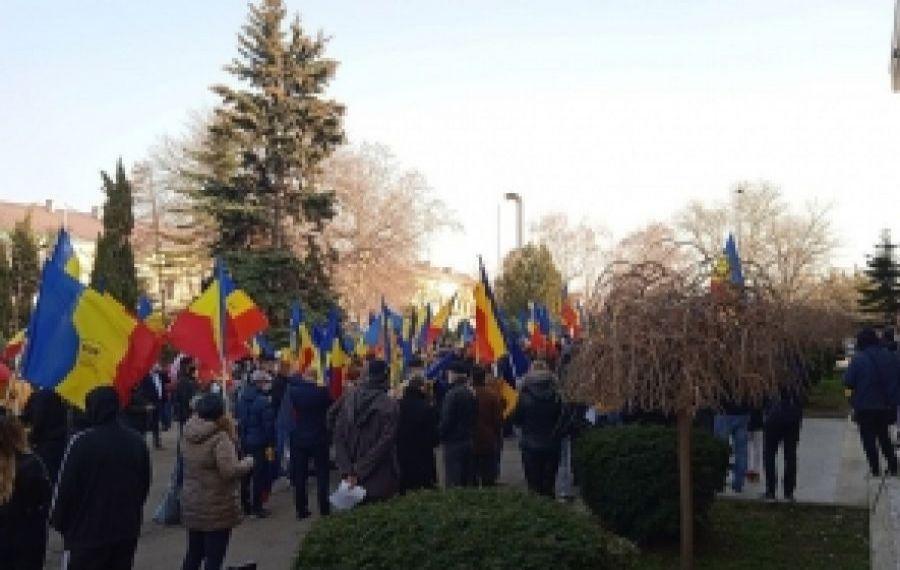 """Protest AUR împotriva vânzării Portului Constanța: """"Peste voința noastră nu se va trece!"""""""