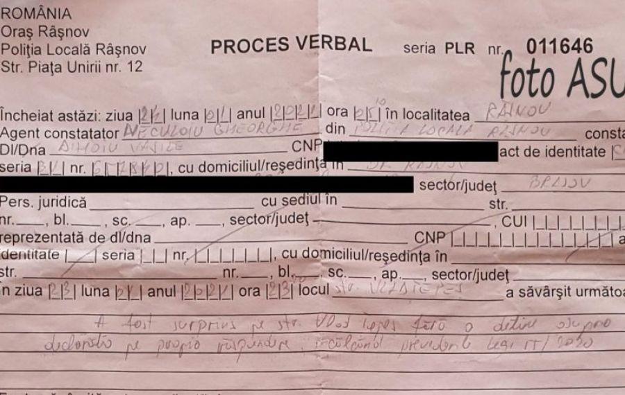 Se întâmplă în România. Bărbat decedat de doi ani, sancționat de polițiști pentru că a ieșit pe stradă după ora 23.00
