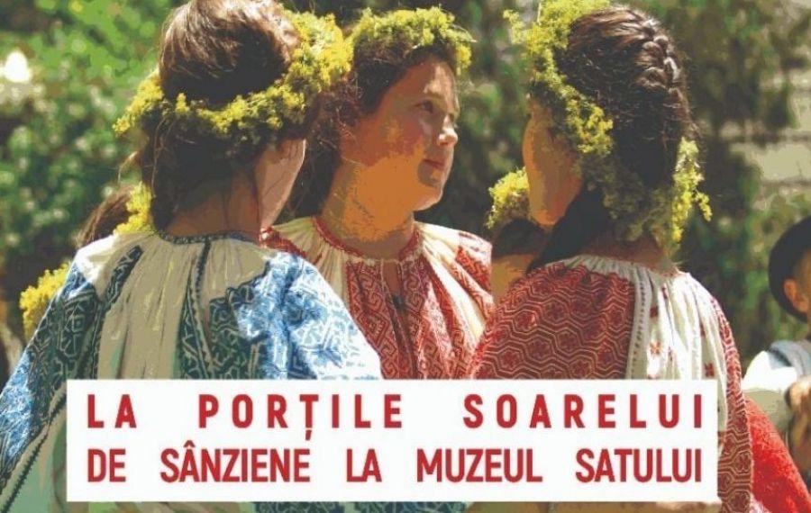 """Eveniment """"La porţile soarelui. De Sânziene la Muzeul Satului"""". Acces GRATUIT pentru cei îmbrăcați în ie"""
