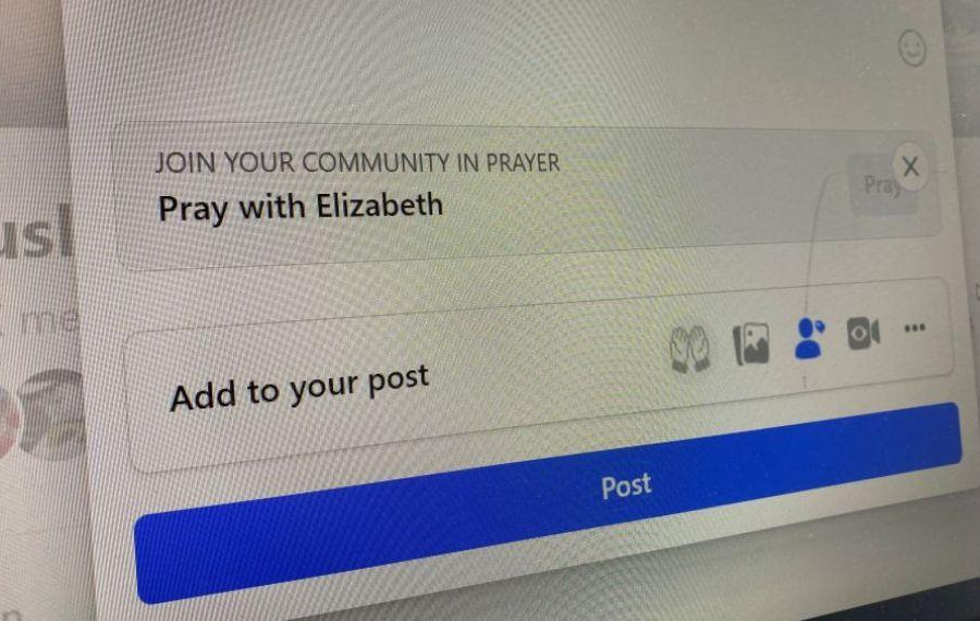 Rugăciune în grup pe Facebook!