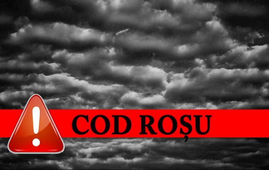 Cod roșu de ploi torențiale în mai multe județe