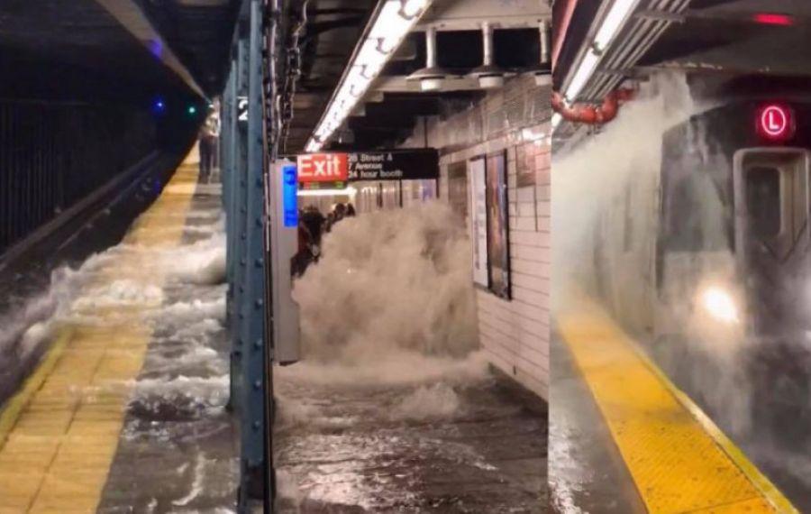 Stare de urgență în New York. Imagini cu dezastrul produs de INUNDAȚII