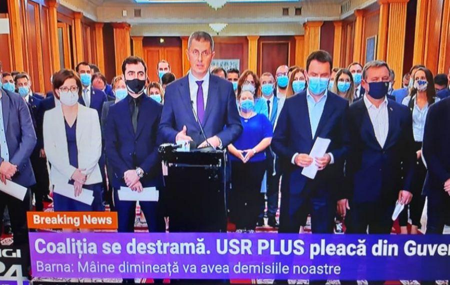 BREAKING NEWS: Miniștrii USR PLUS demisionează din Guvern
