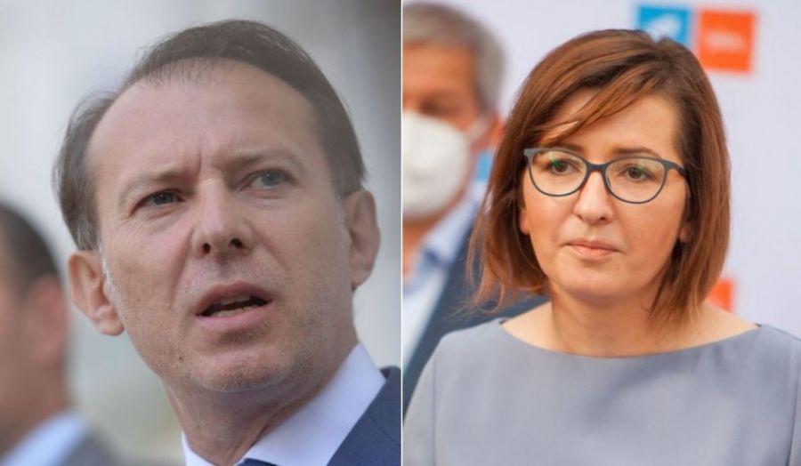 """Cîțu, dezamăgit de Ioana Mihăilă: """"A lăsat Ministerul Sănătății fără conducere în plină PANDEMIE"""""""