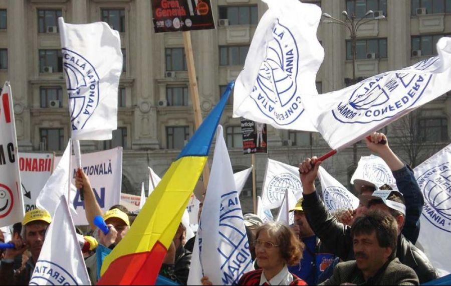 Sindicaliștii din Confederația Meridian protestează joi în fața Guvernului. Vezi care sunt revendicările lor