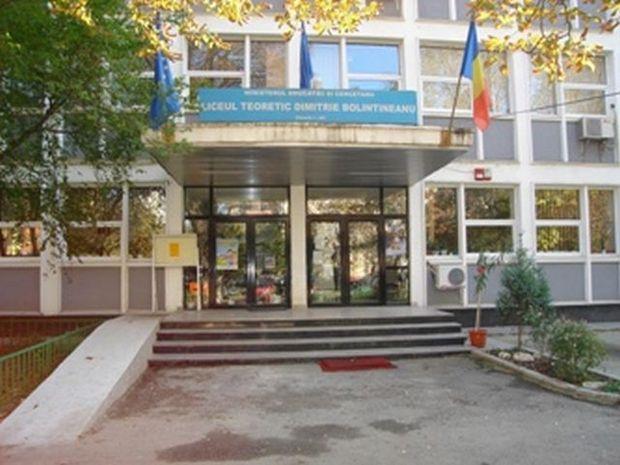 """UPDATE. 100 de elevi de la liceul """"Dimitrie Bolintineanu"""", audiaţi de poliţie săptămâna viitoare"""