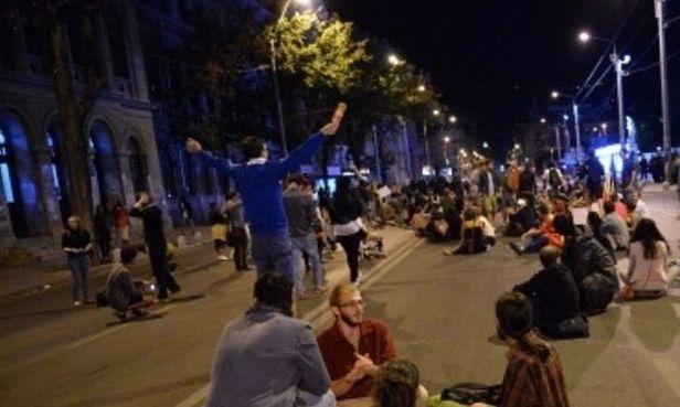 Bucureşti: A patra zi de proteste împotriva exploatării de la Roşia Montană