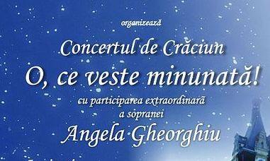 """Concertul de Colinde """"O, ce veste minunată"""". Evenimentul extraordinar al Crăciunului!"""