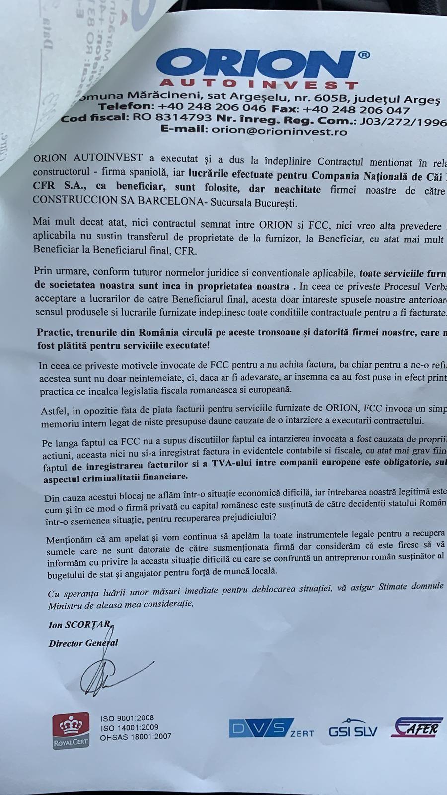 FCC Construccion, cel mai mare constructor din Spania, acuzat că nu și-a plătit subcontractorii pentru lucrări pe calea ferată